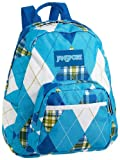 JanSport Classic Half Pint Accessory Backpack, Calypso Blue Plaid Argyle