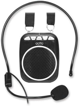 Actto amplificador de voz portátil micrófono, guía amplificador de micrófono para los profesores, profesores de altavoces, Yoga, gimnasio directores, Entrenadores, guías turísticos presentaciones y: Amazon.es: Electrónica