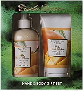 product image for Camille Beckman Hand and Body Duet Set, Silky Body and Glycerine Hand Cream, Mango Beach No. 2