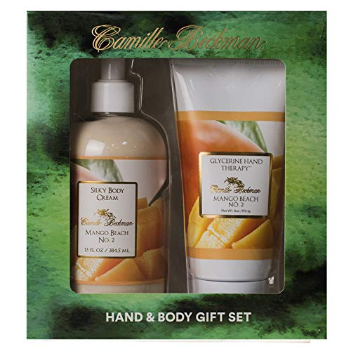 - Camille Beckman Hand and Body Duet Set, Silky Body and Glycerine Hand Cream, Mango Beach No. 2