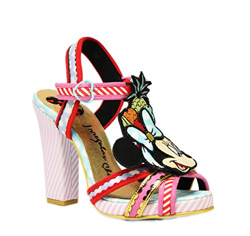 Stripes Choice Irregular (Irregular Choice X Disney Women's Tropical Minnie Mouse Strappy Platform Sandals Limited Edition (EU 39))