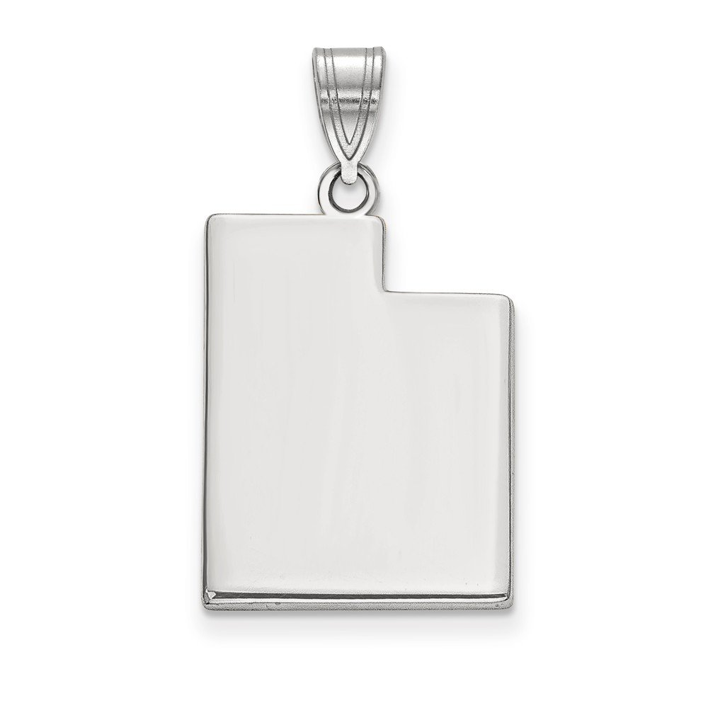 Sterling Silver Utah State Pendant Bail Only