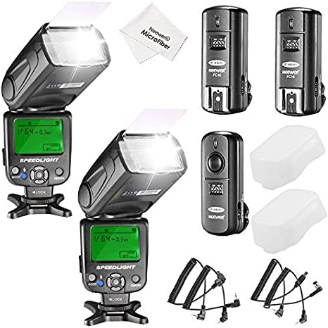 Neewer Kit de 2 NW620 Flash Speedlite Manual Canon Nikon Panasonic ...