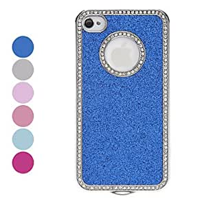 hao Diamond Frame Shimmering Powder Hard Case for iPhone 4/4S (Assorted Colors) , Navy
