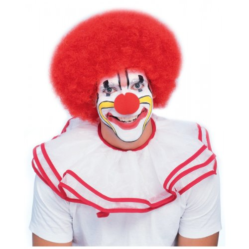 Rubie's Costume Deluxe Clown Wig, Red, One (Red Afro)