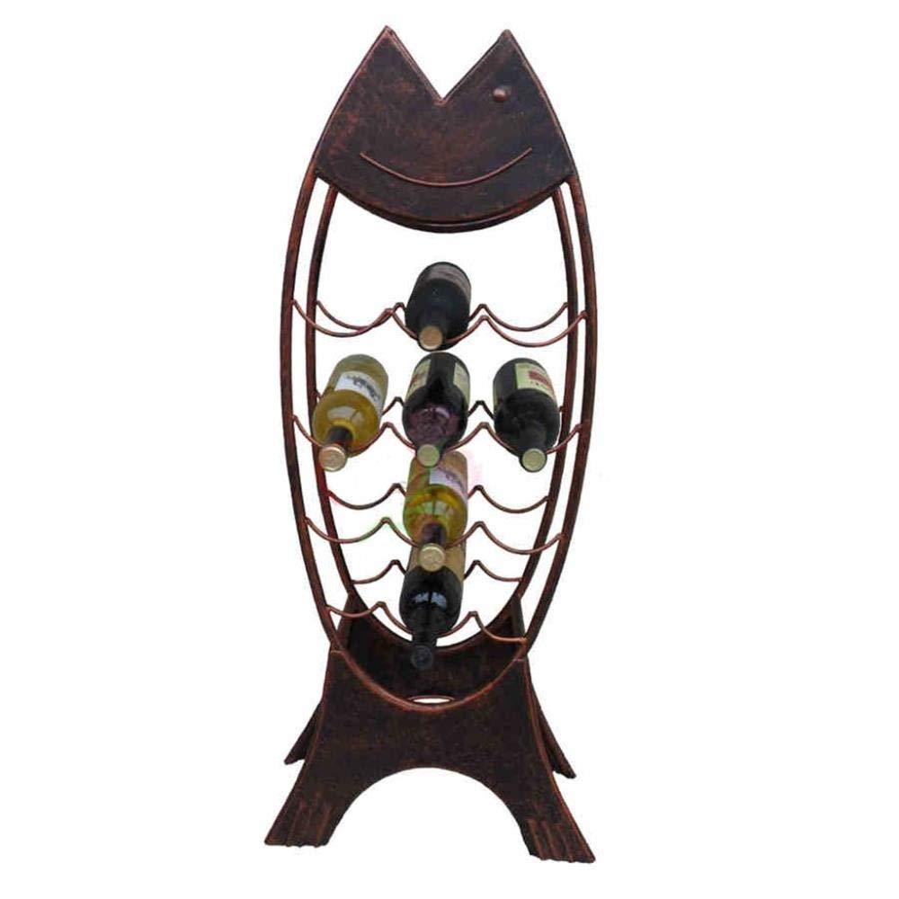 FENGFAN-Wine Rack Freestanding with Glass Holder Metal Black Modern Display Stand Shelf Restaurant Kitchen Bar