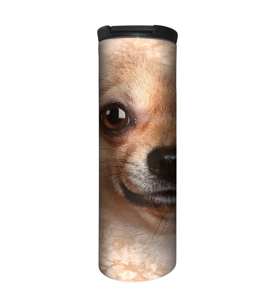 The Mountain Men's Chihuahua Face Barista Travel Coffee Mug, Beige, 17 Oz