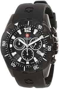Swiss Military Calibre Men's 06-4M2-13-007.7 Marine Chronograph Black PVD Black Bezel Rubber Watch