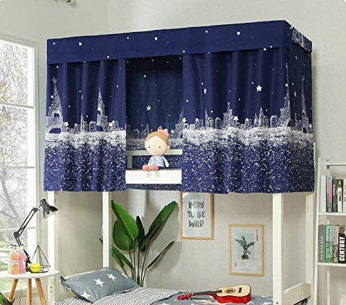 (Bed Curtain Bed Canopy Single Sleeper Bunk Bed Bunk Tent Curtain Bedding Black Out Sleep Canopy Sleep Privacy Bed Rack Dorm College Student Dormitory Spread Blackout Mosquito Nets Bedding Curtain)