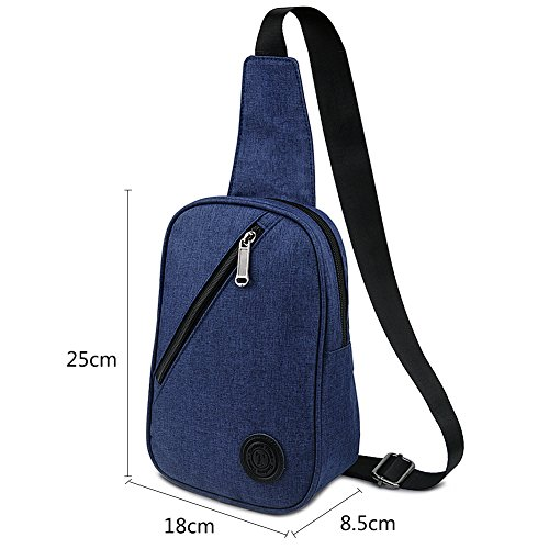 Sling Bag, Crossbody bag Chest Pack Nylon Shoulder Bag Travel Daypack by EASTERN TIME