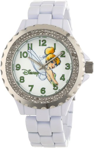 Enamel Watch Bracelet (Disney Women's W000497 Tinker Bell Enamel Sparkle Bracelet Watch)