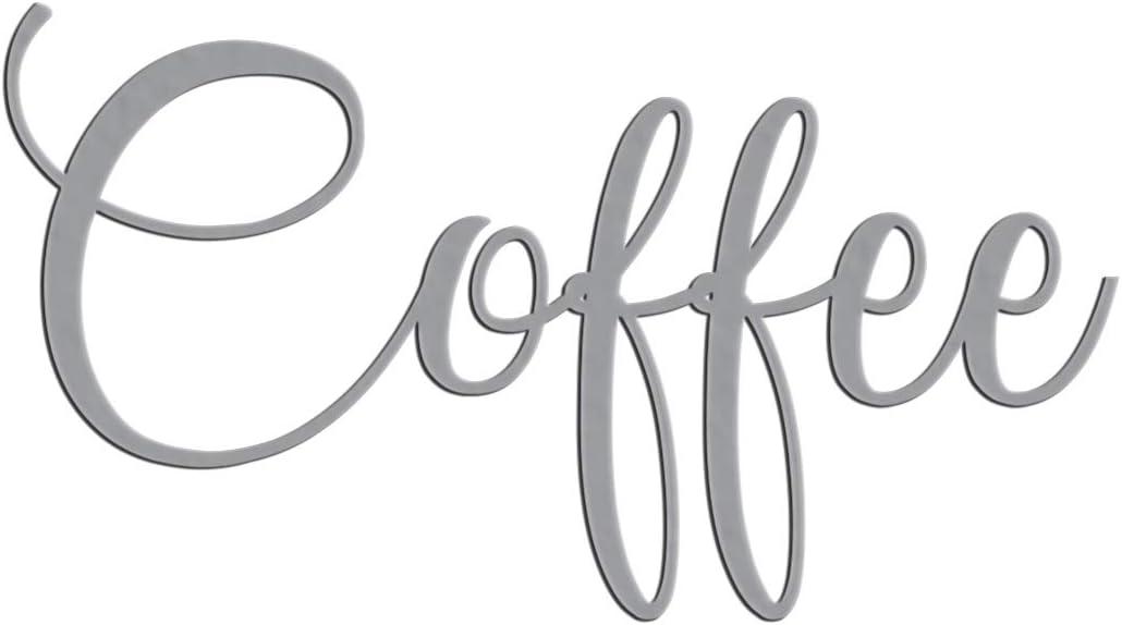Metal Coffee Sign Script for Door Wall Kitchen Pantry Design
