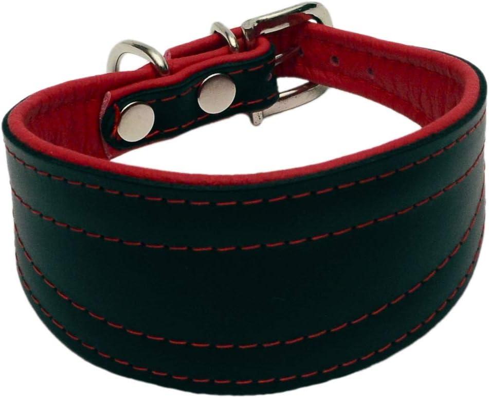Collar de cuero para perros y cachorros, negro brillante, hecho a mano: Amazon.es: Productos para mascotas