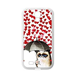 Cute Grumpy Cat Protective Rubber Back Fits Cover Case for SamSung Galaxy S4