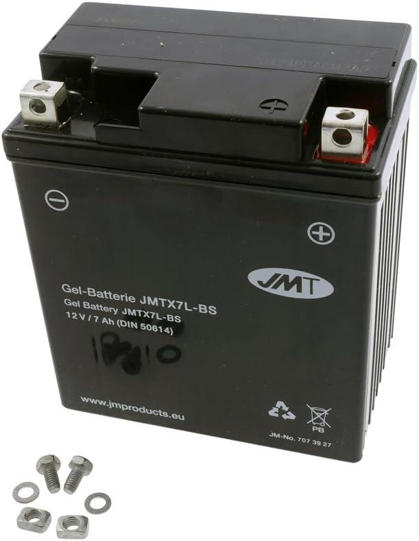 Batterie JMT GEL inkl.7.50 EUR Batteriepfand YTX7L-BS 12 Volt 1999-2005 SYM Husky 125 N125A-6 Bj
