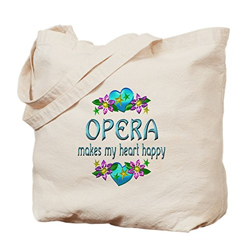 CafePress–Opera corazón Happy–Gamuza de bolsa de lona bolsa, bolsa de la compra Small caqui