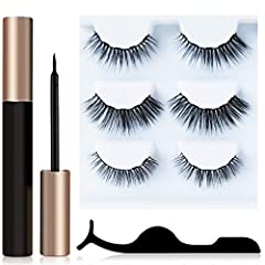 Natural Vine Magnetic Eyelashes and Eyeliner Kit is a new generation product. We continue to improve every detail of our products and our mission is to provide the most valuable product for the customers.       ★Easy to use. Say good ...