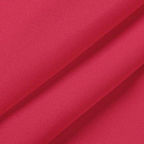 Femmes Dentelle VJGOAL Cou Quarts V Mode Rouge Chic Shirts Trois en LaChe Dentelle Chemisier T Blouse Bouton Hauts dzx1Oz