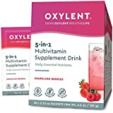 Oxylent, 5-in-1 Multivitamin Supplement Drink, Sparkling Berries, 30 Packet Box