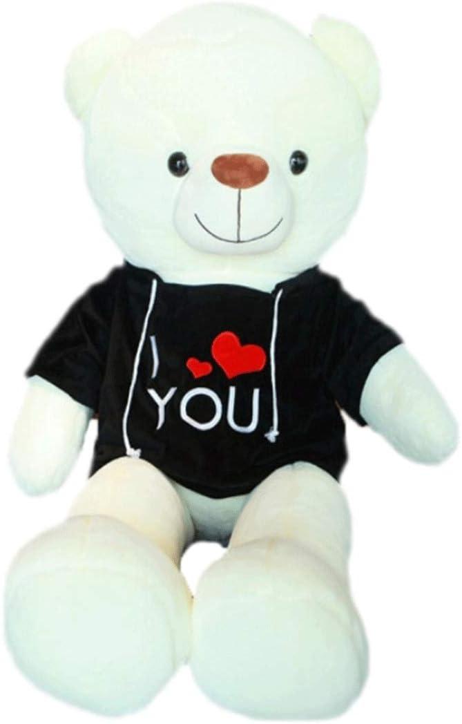 KEHUITONG ぬいぐるみ、ジャイアントパンダ人形、抱擁クマ、ビッグドール、女の子かわいいぬいぐるみ、テディベア人形、複数の色とサイズ 最高の贈り物 最新スタイル (Color : White, Size : 200cm)