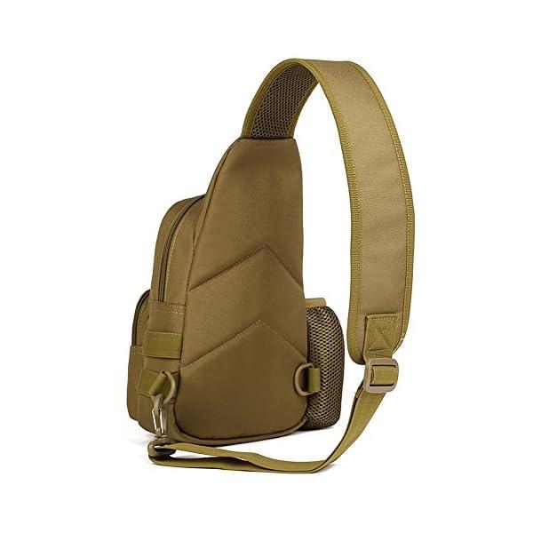 51Lf5efGrCL HUNTVP Taktisch Brusttasche Military Schultertasche mit Wasserflasche Halter Chest Sling Pack Molle Armee Crossbody Bag…