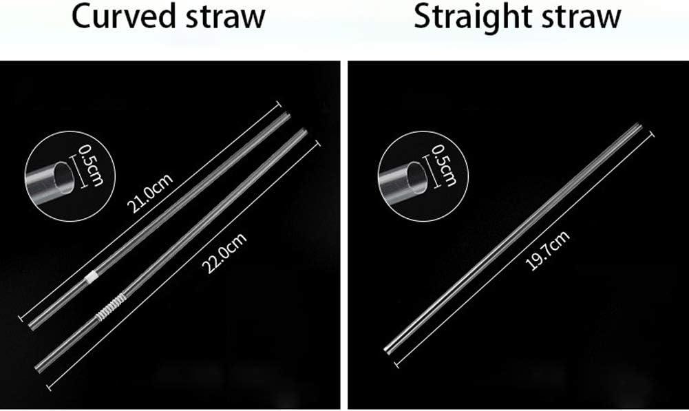 Set de Paille Transparente de th/é au Lait de Perle Taille : Straight Straws 197 * 5mm XAOBNIU Le jus de Fruit de Paille jetable boivent Le Conditionnement Individuel 300pcs