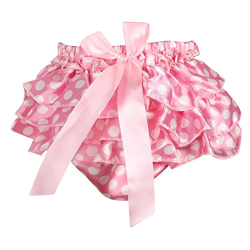 Gsha Baby Kid Girl Satin Ruffle Flounce PP Pants Shorts Culotte Skirt Underwear ()