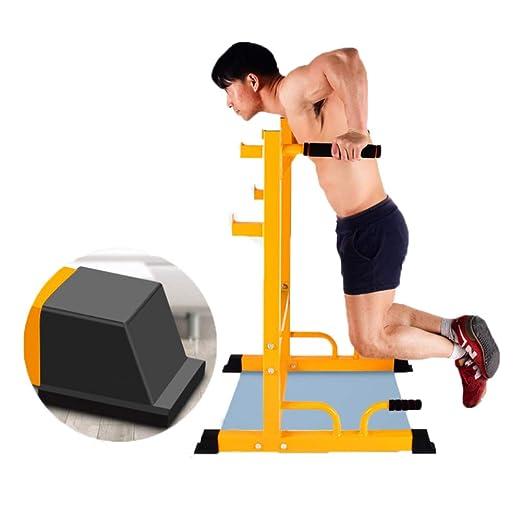 Pull Up Rack Inicio Barras paralelas Levantamiento de pesas Estante de barra para ejercicios en el interior Estación de inmersión de ejercicios Multifunción ...