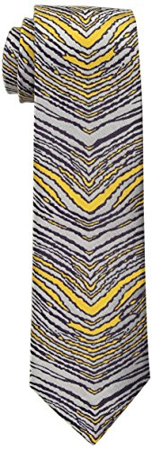 (Zubaz Men's Zebra Accessory, -purple/gold/silver, One Size )