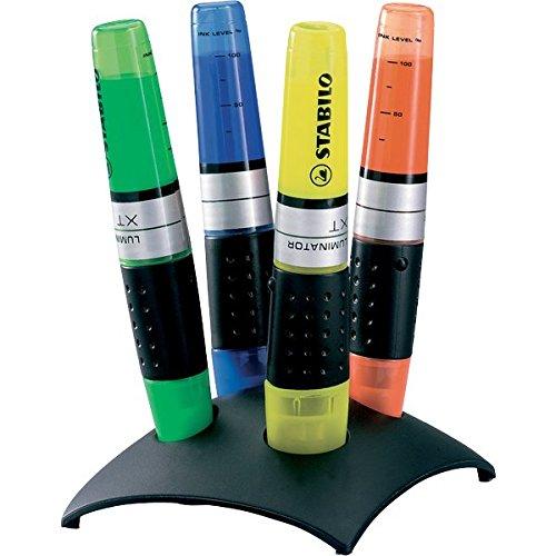STABILO LUMINATOR gelb, grün, blau und orange, 4er Tischset -  Textmarker
