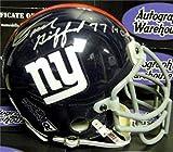 Autograph Warehouse 345217 Frank Gifford Signed Mini Helmet Inscribed HOF 77 - New York Giants Football Hall of Famer