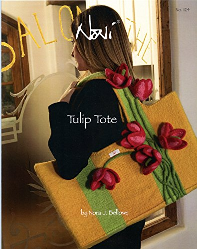 Noni Bags Felted Purse (Noni Knitting & Felting Pattern #124 Tulip Tote - Instructions for Solid & Bi-Colored)