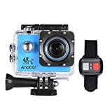 Cheap Andoer AN4000 WiFi 4K 30fps 16MP Action Sports Camera 1080P 60fps Full HD 4X Zoom Waterproof 40m 2″ LCD Screen 170° Wide Angle Lens Support Slow Motion Drama Photography with Remote Control