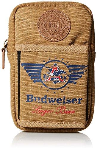 Budweiser by Buxton Men's Eagle Wings Belt Utility Pouch Accessory, beige, ()
