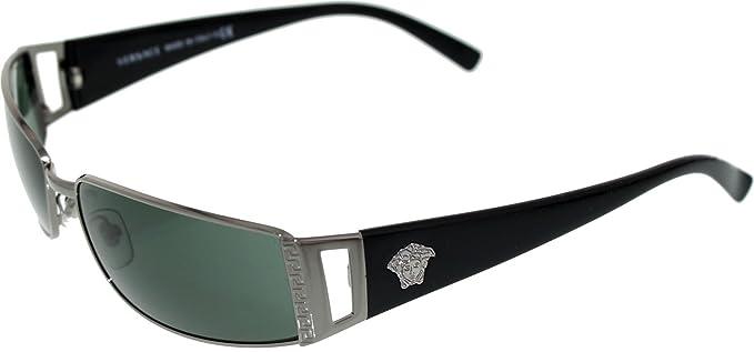d460518868 Versace Sunglasses VE 2021 1001 6 Gunmetal Green 60MM  Versace .