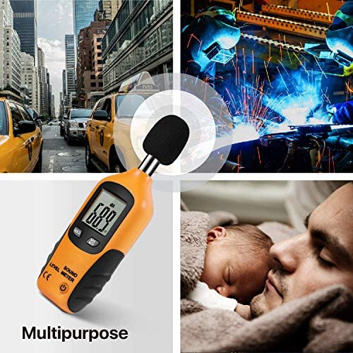 CITW Decibel Meter Digital Sound Level Meter,Portable Audio Noise Measurement Tool 30-130dB(A) Range, With LCD Display And Frequency Weighting