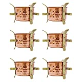6 Pcs Traditional Indian Copper Sigdi Food Warmer Hotelware Angeethi Tableware