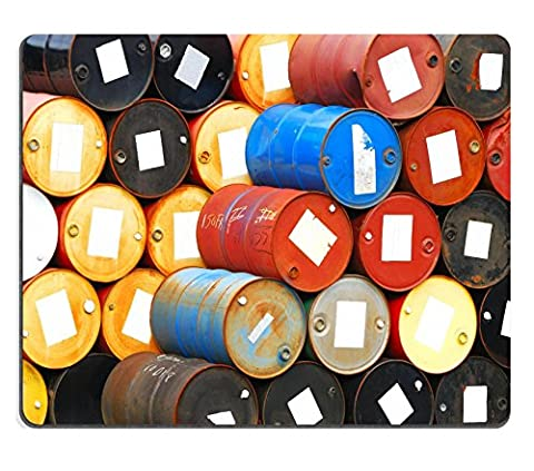 MSD Natural Rubber Gaming Mousepad 55 gallon chemical drums in a storage yard awaiting recycling IMAGE (5c Of Mice And Men Case)