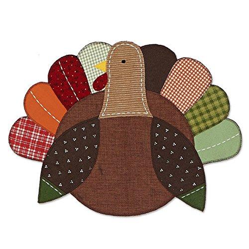 Turkey Shaped Embellished Placemat - Set of 2