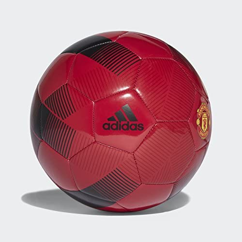 Amazon Com Adidas English Premiership Manchester United Fc Soccer Ball Red 5 Sports Outdoors
