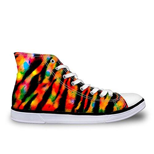 Per Te Disegni Moda Animali Stampa Comoda Alta Top Canvas Sneakers Da Donna E Da Uomo Lace Up Stripe 3