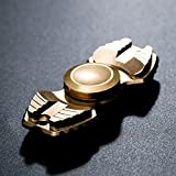 FREELOVE Armed Shark Armor Warrior Fidget Spinner Toy Stress Reducer Premium EDC Disassembly With 606 Stainless Steel Bearings Helps Focus, Stress, Anxiety, ADHD, Boredom. (Pure Brass, Gold)