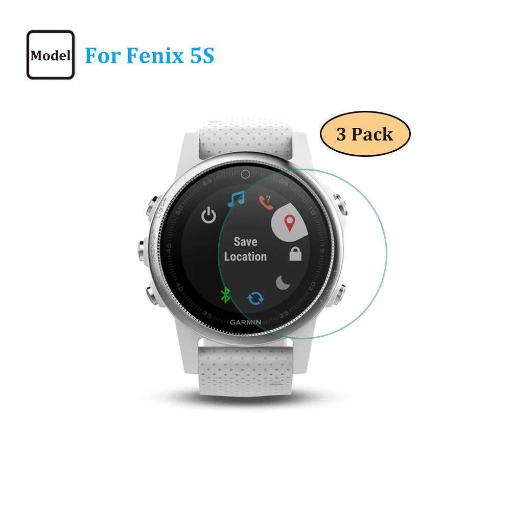3 Pack Fenix 5S Smartwatch Screen Protector Tempered Glass,Ultra-Thin 9H Hardness Scratch Resistant for Garmin 645 Music//245 Music Screen Protector ONGHSD for Garmin Forerunner 645//245