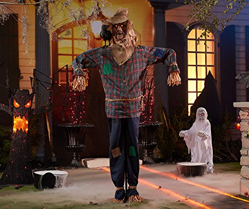 6 Foot Tall - Animated Scary Halloween Scarecrow - Sound Activated