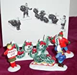 Dept 56 The Original Snow Village - Wreaths for Sale Set of 4 Figurines Retired