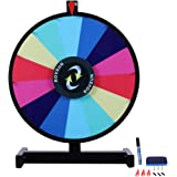 ROVSUN 18''/24'' Spinning Prize Wheel Colorful Slots Spinner, Dry Erase&Mark Pen Included, Win Fortune Spin Game, for Trade Show Carnival Casino Party Market Raffle