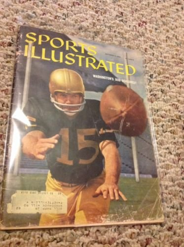 October 3,1960 Sports Illustrated Magazine-Washington's Bob Schloredt from Unknown