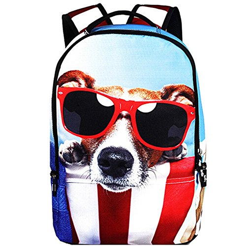 Price comparison product image Bag Home Animal Print Lightweight School Backpack Laptop Bag Sunglasses Dog