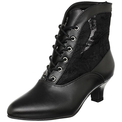 ens Black Polyurethane-Lace Boots Size - 6 ()