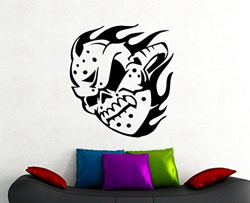Skull Hockey Mask Wall Decal NHL Sports Sticker Horror Vinyl Art Home Interior Decorations Room Training Club Decor 6hkk